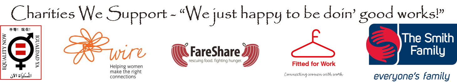 Charities We're Proud to Support - Equality Now, WIRE, FareShare, Fitted for Work, The Smith Family